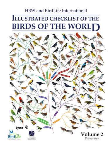 HBW and BirdLife Int Illustrated Checklist Birds of the World - V.2 (Passerines)