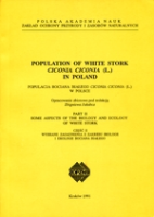Jacubca : Population of White Stork Ciconia ciconia in Poland : Part II Some Aspects of the Biology and Ecology of White Stork